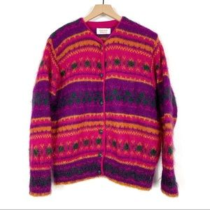 United Colors Of Benetton Mohair Cardigan Size 14